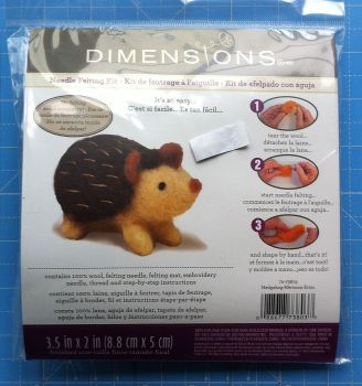 Needle Felting Kit hedgehog by dimensions