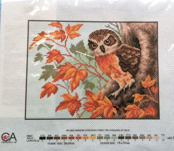 kit 1069 CDA collection D'art enbroidery owl in tree
