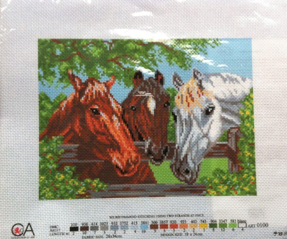 kit 1070 CDA collection D'art enbroidery horses
