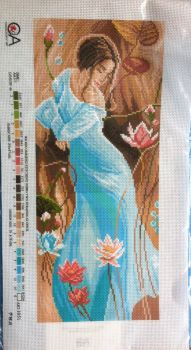 kit 1068 CDA collection D'art enbroidery lady in blue