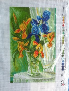 kit 1071 CDA collection D'art enbroidery flowers in vase