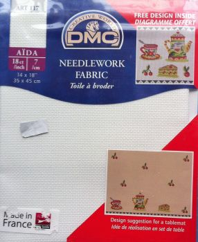 "Needlework fabric 14"" x 18"" 18ct/incch by DMC"