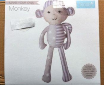 kit 3009 Trimits fabric kit monkey