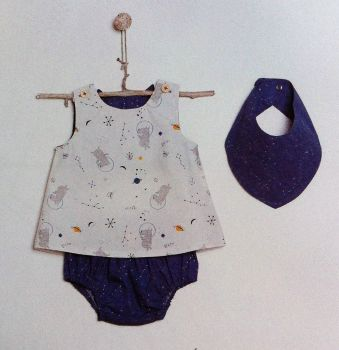 Katia B3 Sewing Pattern Top, Knickers and Bandana Bib