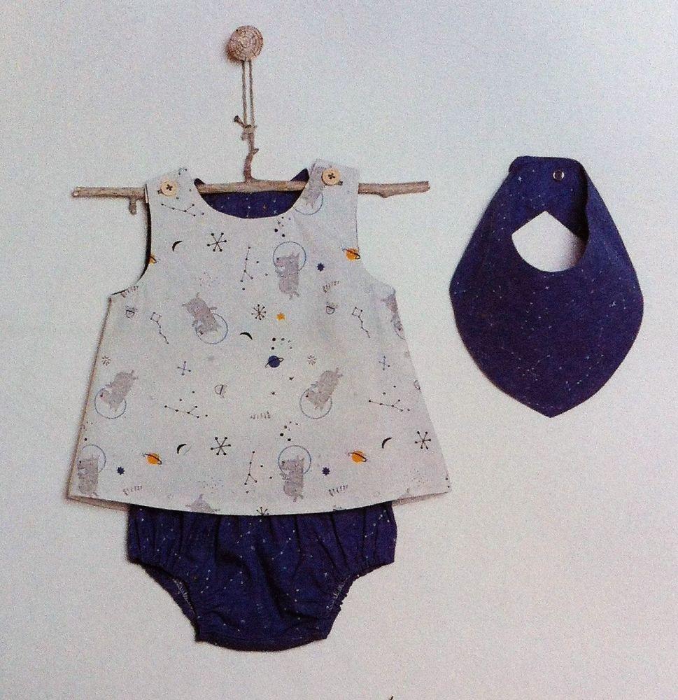 Katia B3 Sewing Pattern Top, Knickers and Bandana Bib