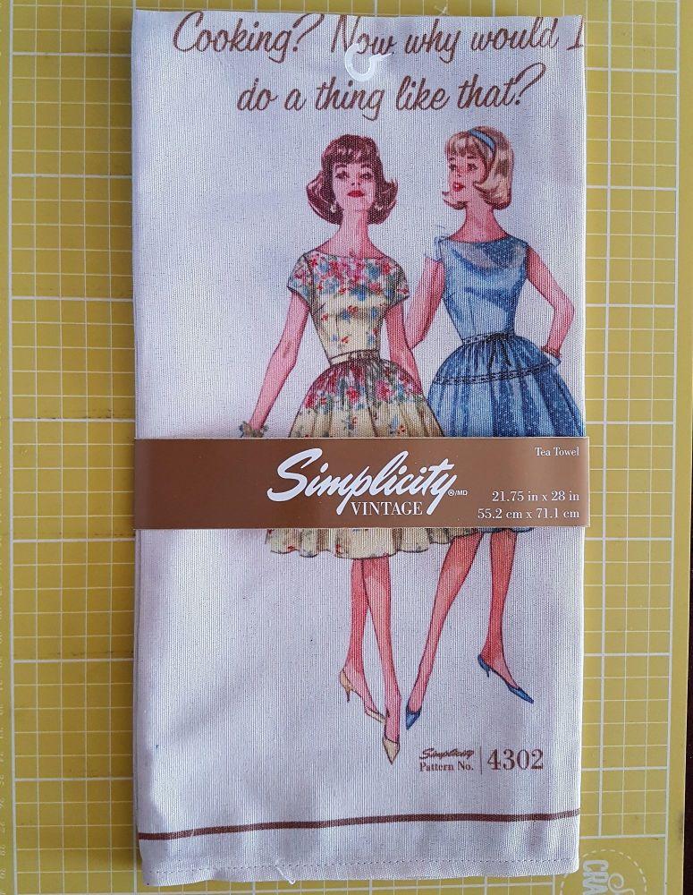 Simplicity vintage tea towel 21 3/4