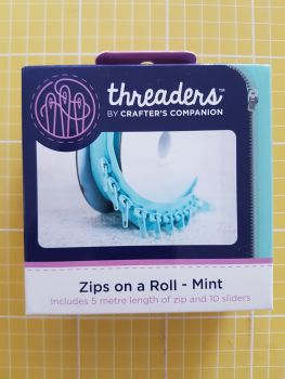 Threaders zip on a roll - 5mtr 10 sliders mint