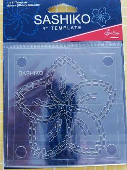 """Sashiko 4"""" Template Sakura (cherry blossom)"""