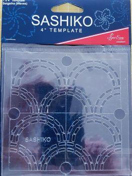 """Sashiko 4"""" Template Seigaiha (waves)"""