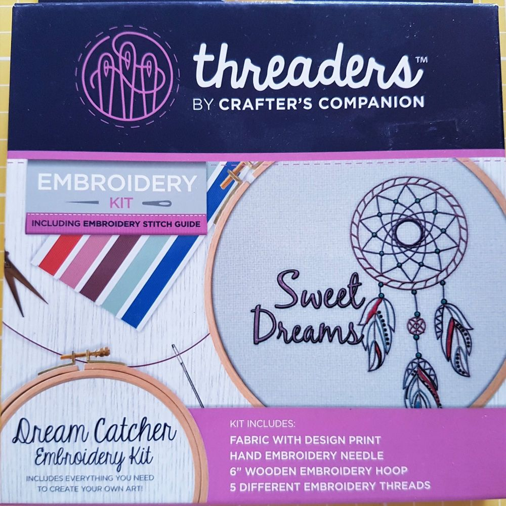 Threaders embroidery kit dream catcher