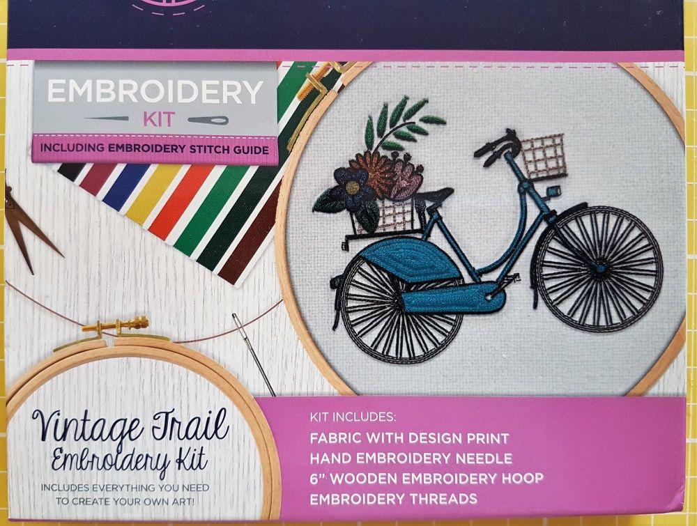 Threaders embroidery kit vintage trail