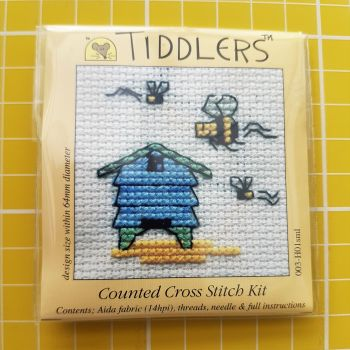 Mouseloft tiddlers cross stitch embroidery bee hive