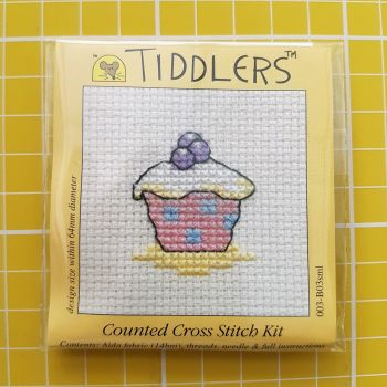 Mouseloft tiddlers cross stitch embroidery cup cake