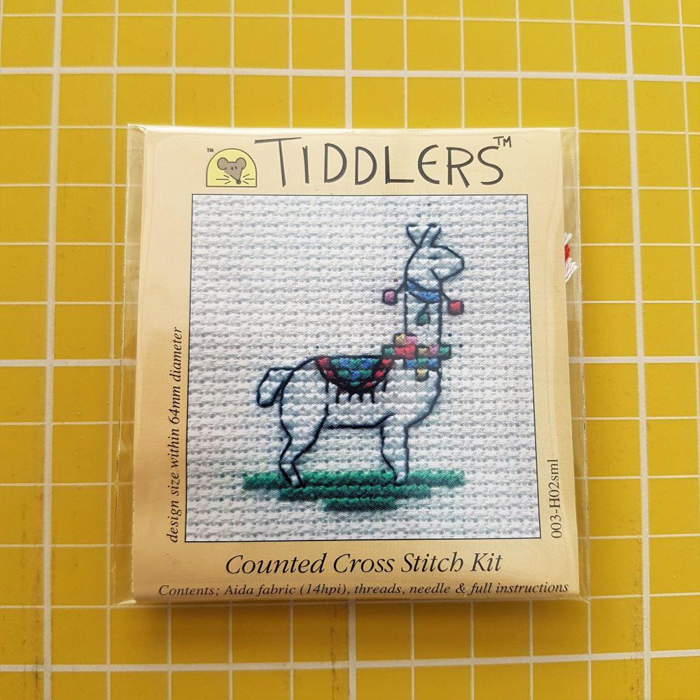 Mouseloft tiddlers cross stitch embroidery llama