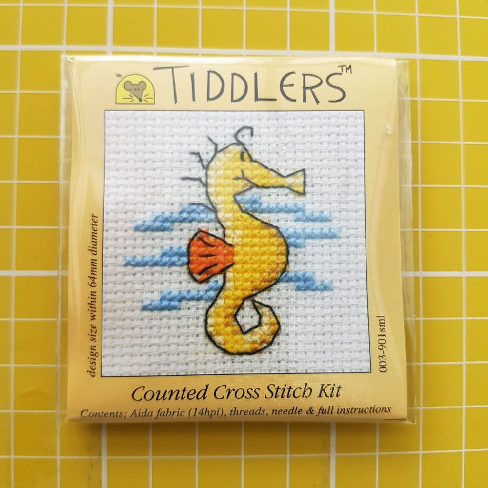 Mouseloft tiddlers cross stitch embroidery sea horse