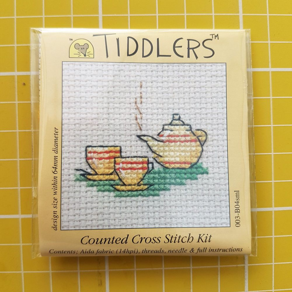 Mouseloft tiddlers cross stitch embroidery tea for two