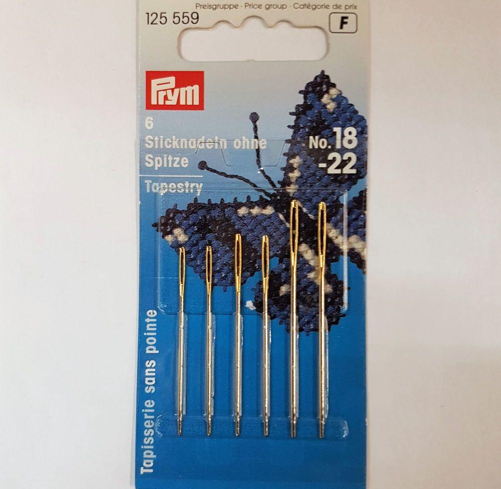 Prym 125-559 tapestry needles no 18-22 5 pce