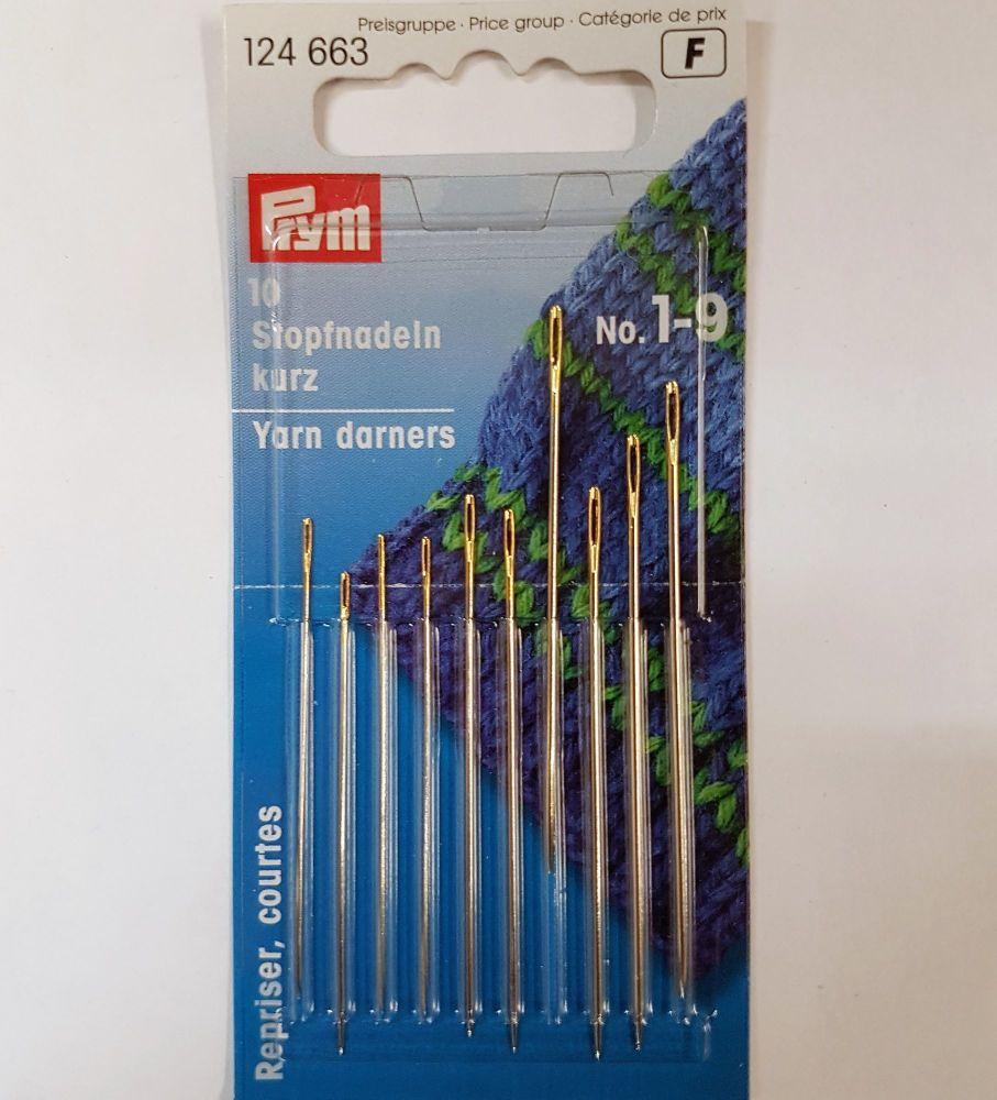 Prym 124-663  Yarn darners needles no 1-9 10 pce