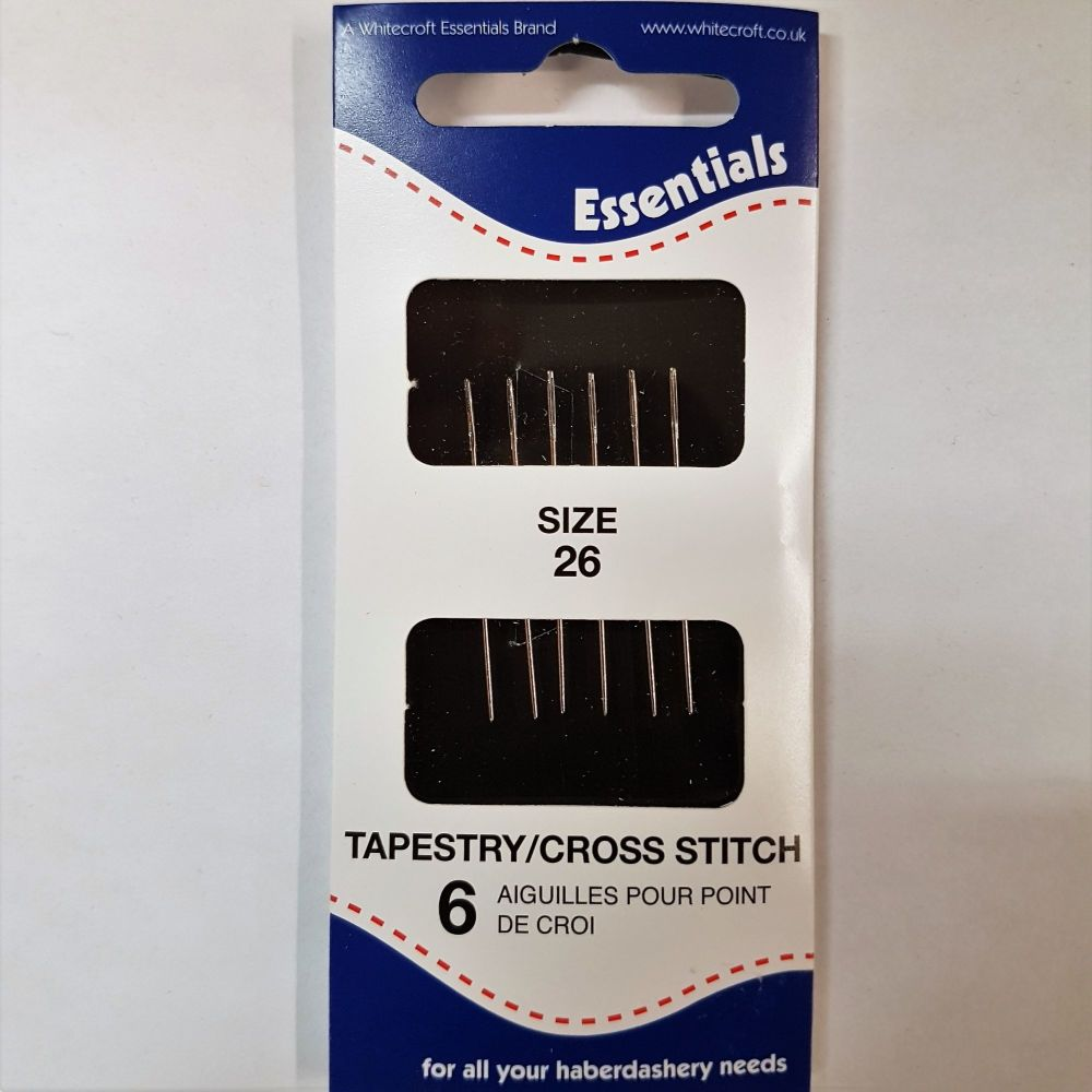 Essentials Tapestry/cross stitch needles size 26 6pce