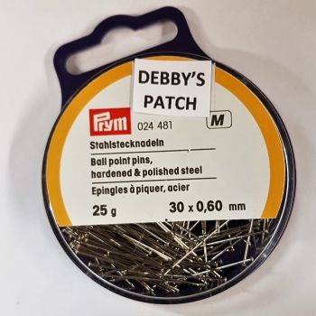 Prym 024-481 Ball point pins 30mm x 0,60mm 25g