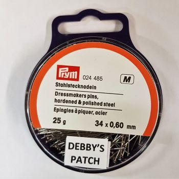 Prym 024-485 Dressmakers pins 34mm x 0,60mm 25g