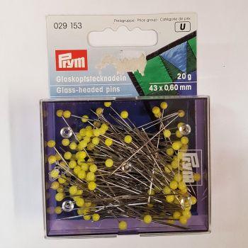Prym 029-153 Glass headed pins 43mm x 0,60mm 20g