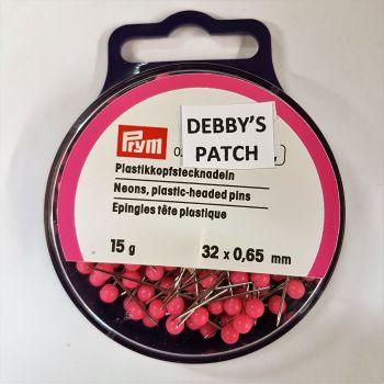 Prym 028-480 Neons plastic-headed pins 32mm x 0,65mm 15g