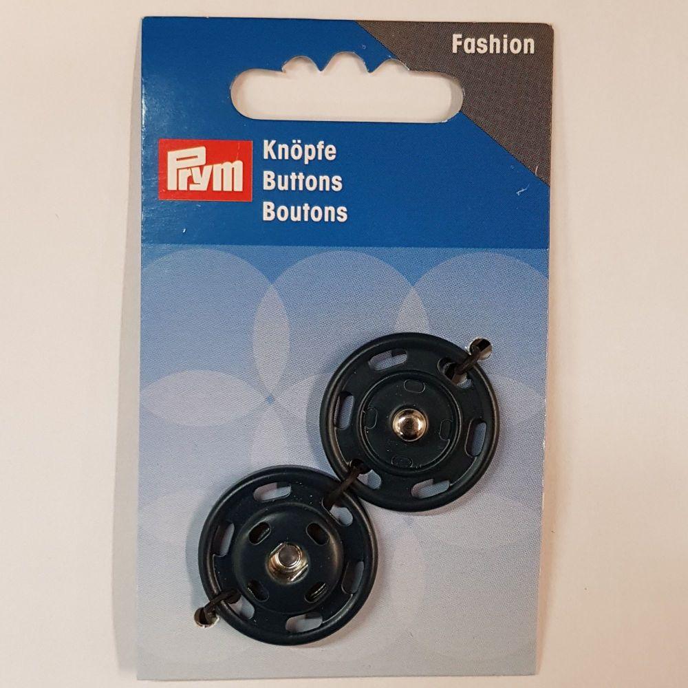 Prym 341-836 fashion button snap fastener 25mm 1 pce black