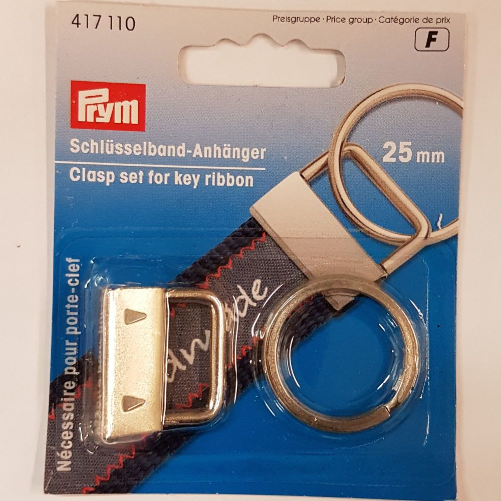 Prym 417-110 Clasp set for key ribbon 25mm 1 pce