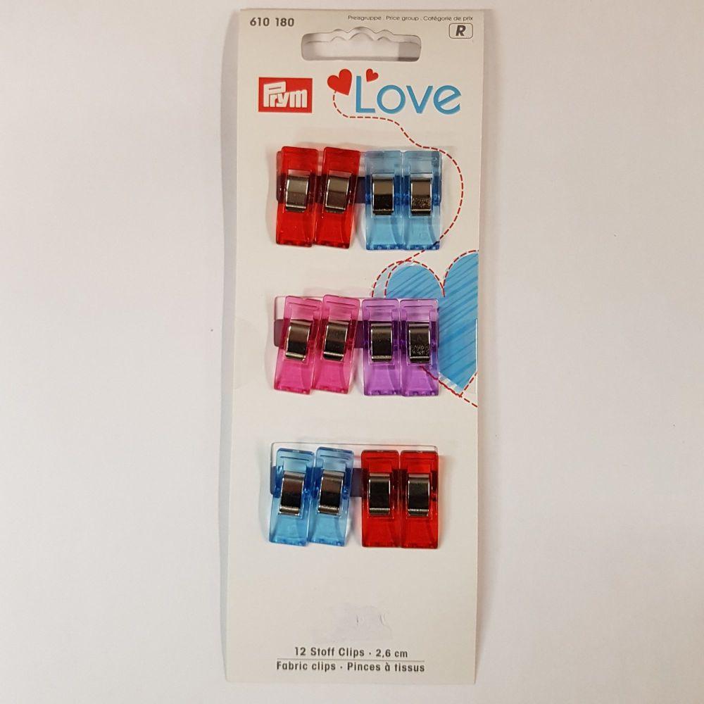 Prym 610-180 Stoff clips 2.6cm  x 12