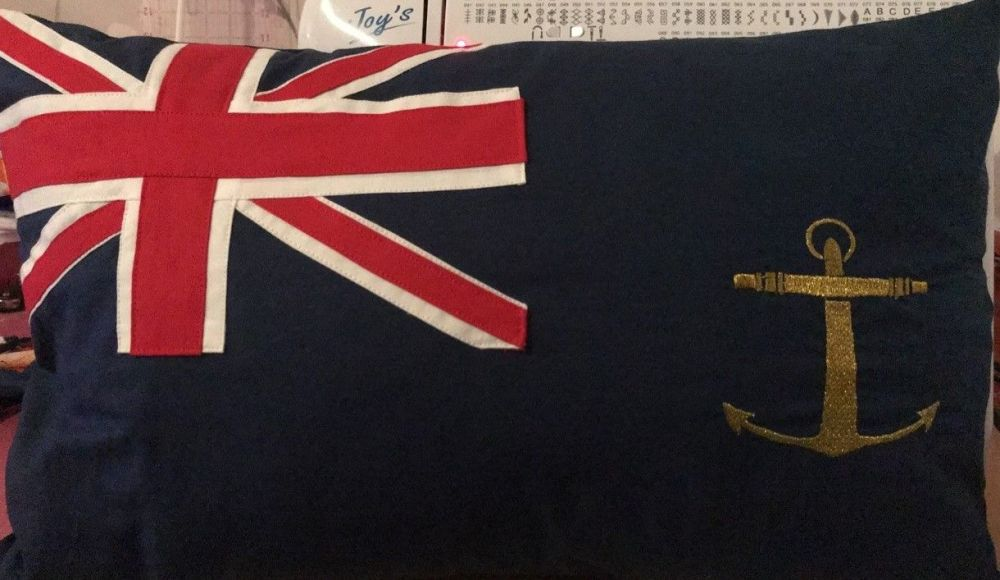 Flag cushion Blue Ensign of The Royal Fleet Auxiliary 19