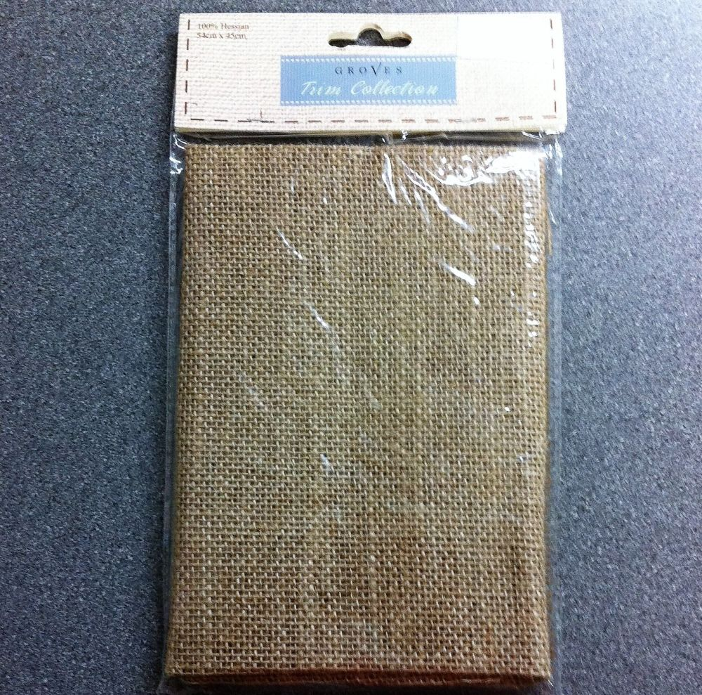 Groves trim collection Hessian 54cm x 45cm