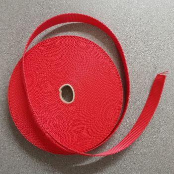 "Bag handle webbing red 25mm 1"" per 3mtr"