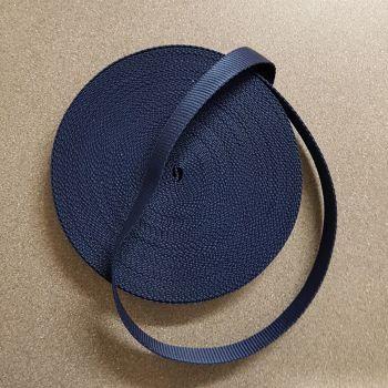 """Bag handle webbing blue 25mm 1"""" per 3mtr"""