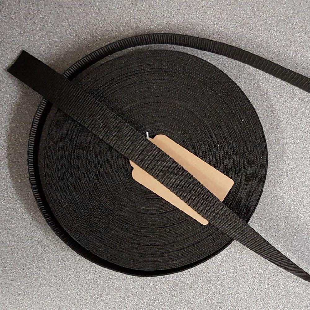 Bag handle webbing black 25mm 1