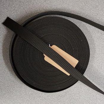 """Bag handle webbing black 25mm 1"""" per 3mtr"""