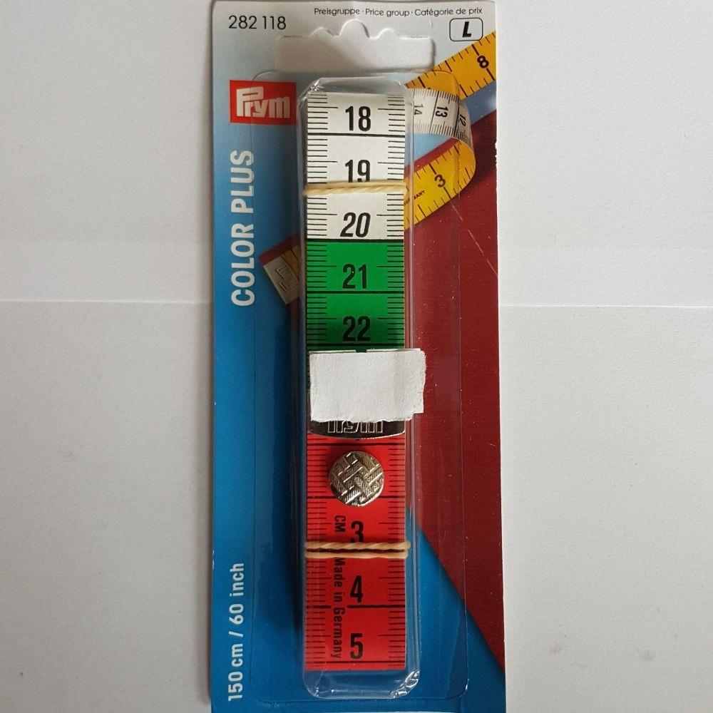 Prym 282-118 Colour plus Tape Measure 150cm/60 inches