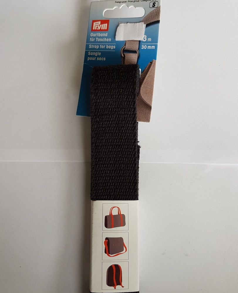Prym 965-180 strap for bag black 30mm per 3mtr