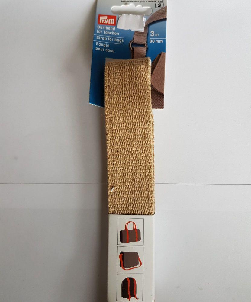 Prym 965-185 strap for bags baige 30mm per 3mtr