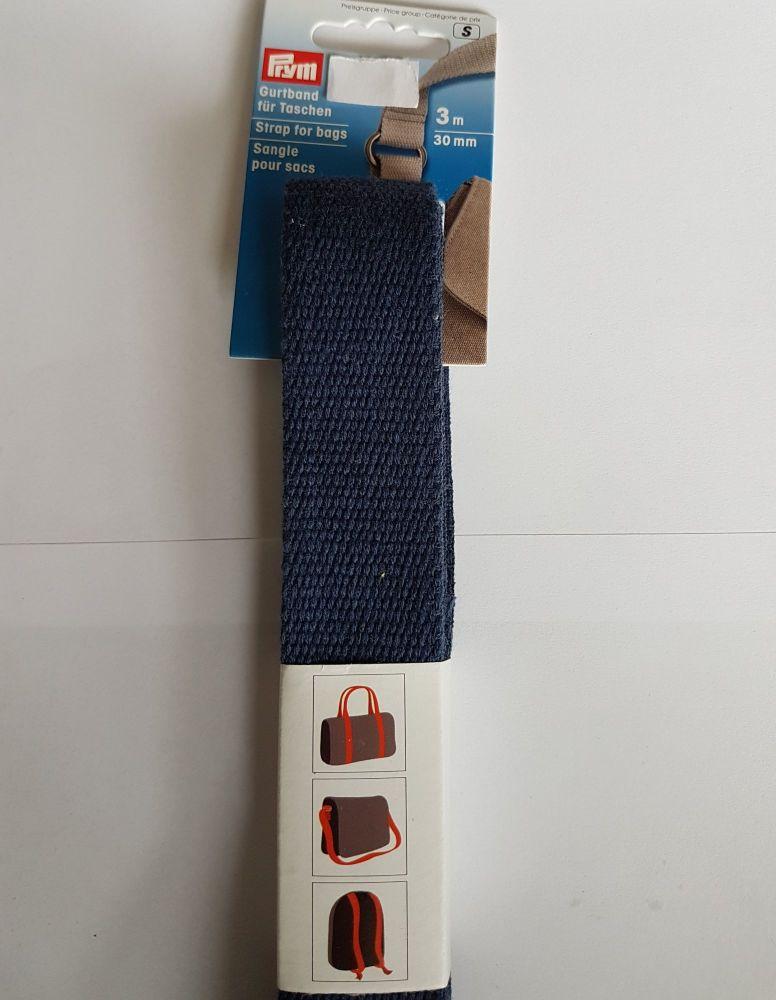 Prym 965-188 strap for bags dark blue 30mm per 3mtr