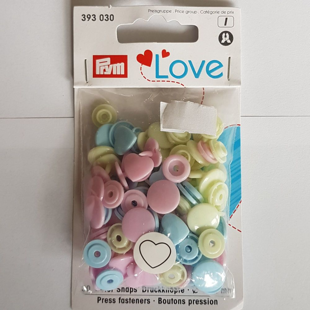 Prym 393-030 Love press fasteners 12.4mm x 30