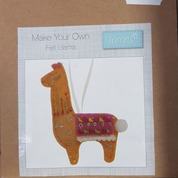 Felting kit make your own Felt Llama by Trimits