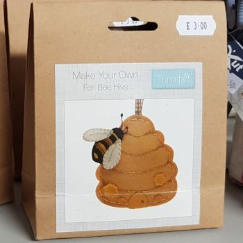 Felting kit make your own Felt Bee Hive by Trimits
