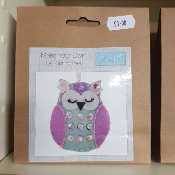 Felting kit make your own Owl by Trimits