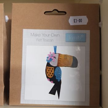 Felting kit make your own Toucan by Trimits