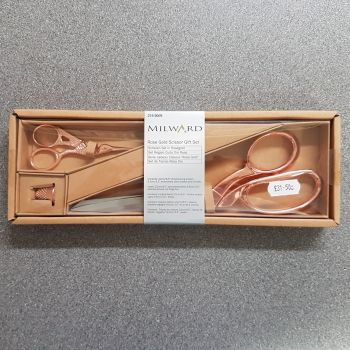 milward Rose Gold Scissor gift set