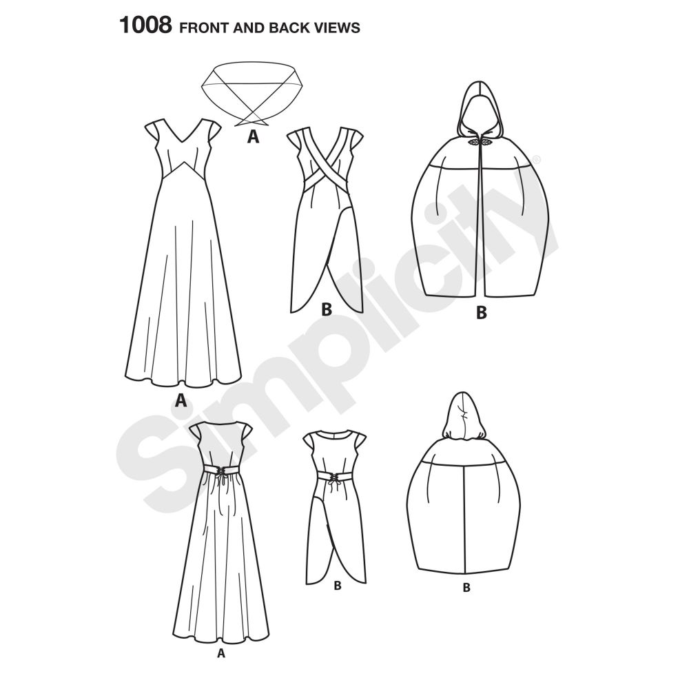 simplicity-costumes-pattern-1008-front-back-view