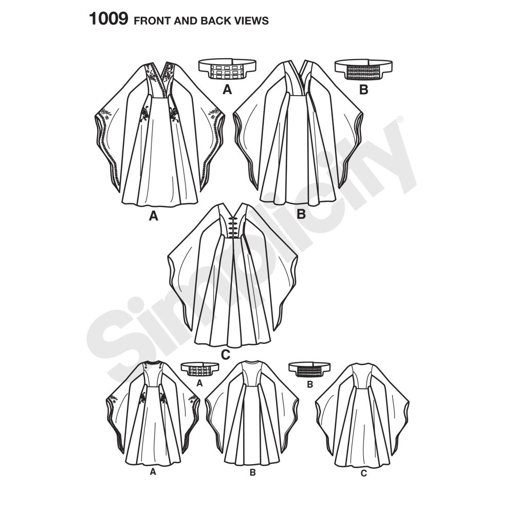 simplicity-costumes-pattern-1009-front-back-view