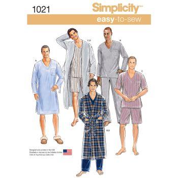 S1021 Simplicity sewing pattern A (XS S M L XL)
