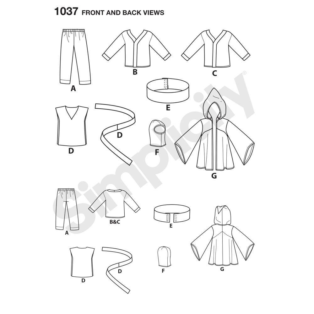 simplicity-costumes-pattern-1037-front-back-view